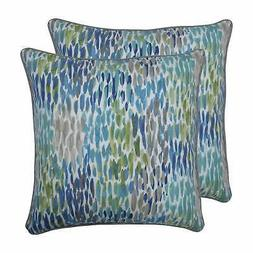 Pillow Perfect Outdoor / Indoor Make It Rain Cerulean Blue B