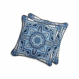 Pillow Perfect Outdoor | Indoor Malacca Blue/White 18.5-inch