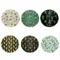Pineapple Cactus Throw Blankets Round Shape For Bed Couch Sl