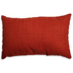 Pure Shock Lumbar Pillow  by  Pillow Perfect  Poppy Red Lumb