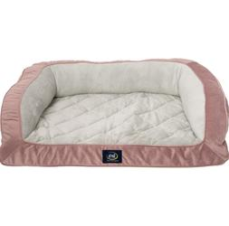 "Serta Quilted Couch Dog Bed - 39x29"" L Large Removable fle"