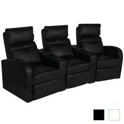 vidaXL Recliner 3-seat Artificial Leather Home Theater Seat