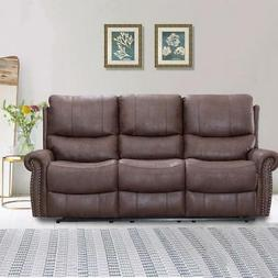 Recliner Sofa Set Reclining Couch Sofa Leather 3 Seater Home