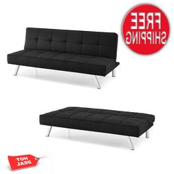 Sleeper Sofa Bed BLack Convertible Couch Modern Living Room