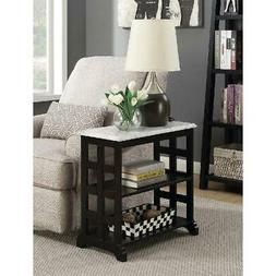 Small Black Wood Sofa End Table Accent Side Chairside Couch