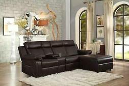 small space brown large recliner sectional sofa