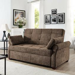 SOFA BED SLEEPER QUEEN SIZE Convertible Couch Brown Eucalypt