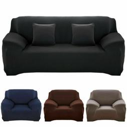 Solid Color Sofa Cover Stretch Seat Couch Cover Love Seat Fu