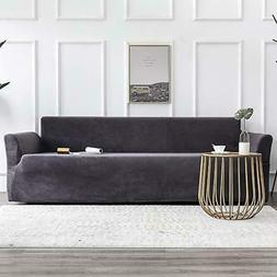 MIULEE Stretch Sofa Cover, Velvet Couch Cover, Fitted Sofa S