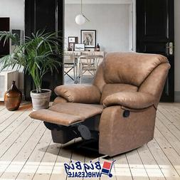 Stylish Leather Recliner Chair Single Couch Reclining Sofa C
