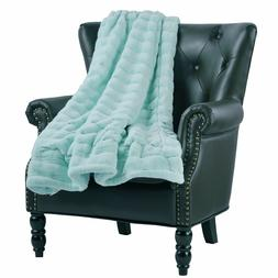 Home Soft THings Super Mink Faux Fur Throw Blanket Couch Cov