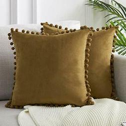 Top Finel Decorative Euro Throw Pillow Covers for Couch Bed