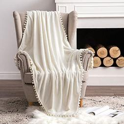 Ultra Soft Fleece Blanket Luxurious Fuzzy for Couch Sofa Lig