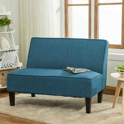 Upholstered Settee Loveseat Sofa Couch Banquette Armless Lin