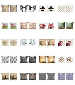 Ambesonne Vintage Motifs Cushion Cover Set of 2 for Couch an