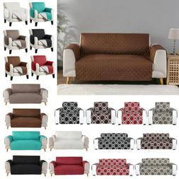 Waterproof Quilted Sofa Cover Couch Cushion Pet Slipcover Fu